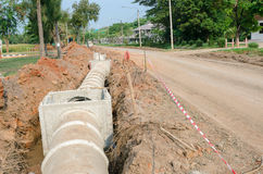 Cement pipeline Stock Photography