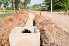 Cement pipeline Stock Photo