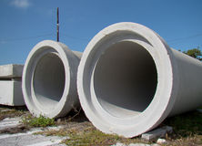 Cement Pipes Royalty Free Stock Image