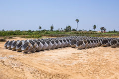 Cement pipes or Concrete pipe Stock Image