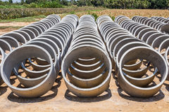 Cement pipes or Concrete pipe Royalty Free Stock Photography