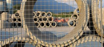 Cement pipes Royalty Free Stock Images