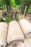 Cement pipes Royalty Free Stock Photos