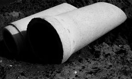 Cement pipes Royalty Free Stock Photo