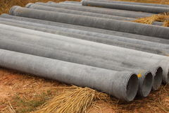 Cement pipes used in Uttar industries. Stock Photography