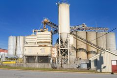 Cement Plant. An industrial cement processing facility Royalty Free Stock Image