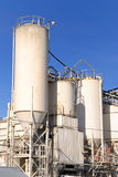 Cement Plant. An industrial cement processing facility Stock Image