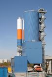 Cement plant. Small cement plant new construction site Stock Photo