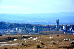 Cement plant in Campulung Stock Photography