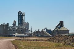 Cement plant royalty free stock photography