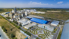 Cement plant china. The cement plant in sunny of hohhot China Royalty Free Stock Photography
