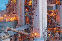 Cement Plant close up stock images