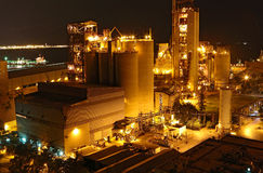 Cement Plant close up Royalty Free Stock Photography