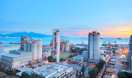 Cement Plant,Concrete or cement factory, heavy industry or const Royalty Free Stock Photos