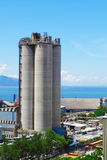 Cement Plant,Concrete or cement factory, heavy industry or const Royalty Free Stock Images