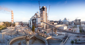 Cement plant Royalty Free Stock Photo