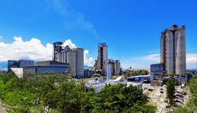 Cement Plant at day. In Hongkong stock photo
