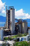 Cement Plant at day. In Hongkong stock images