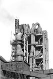 Cement plant, factory Royalty Free Stock Photo