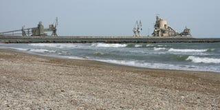 Cement plant industry docks Stock Photo