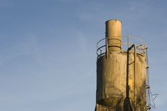 Cement plant Loading hopper. Royalty Free Stock Photos