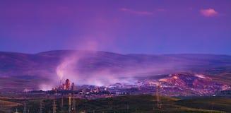 Cement plant mountain sunset china stock photos