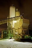 Cement Plant at Night Royalty Free Stock Photo