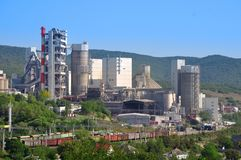 Cement plant in Novorossiysk. Russia Stock Images