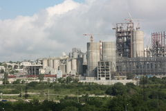 Cement Plant. The picture was taken in Novorossiysk Russia Stock Photo