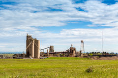Cement plant during sunny day Royalty Free Stock Images