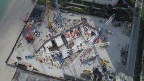 Cement pour at a construction site Stock Photo