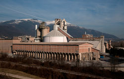 Cement processing plant Royalty Free Stock Photo