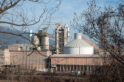 Cement processing plant Stock Photography