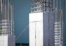 Cement prop in building construct site. Cloesup of cement prop in building construct site Royalty Free Stock Photo