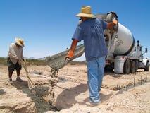 cement prowadzi człowiek poziomy okopu Zdjęcia Stock