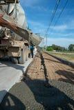Cement Przewozi samochodem działanie zdjęcie royalty free