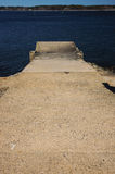 Cement Ramp. A cement ramp in the harbor royalty free stock photos