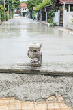Cement road building series Royalty Free Stock Photo