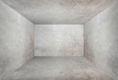 Cement room perspective,grunge background Royalty Free Stock Images