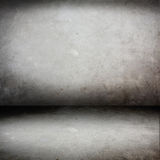 Cement room perspective,grunge background Royalty Free Stock Photos