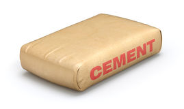 Cement sack. Paper cement sack on white background - 3D illustration Royalty Free Stock Images