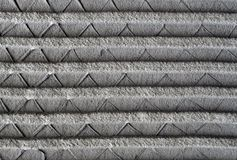 Cement screed on metal mesh Stock Photography