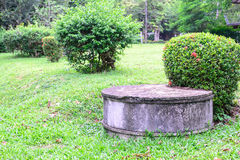 Cement septic tank for waste water Royalty Free Stock Photo