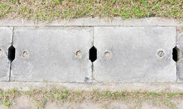 Cement sewer cover Stock Image