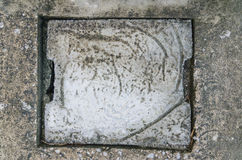 Cement Sewer Cover of Drain in Household Stock Images