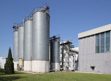 Cement Silo,Factory Royalty Free Stock Images