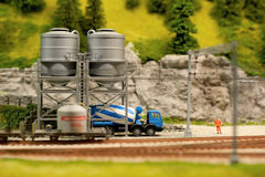 Cement silos Stock Photo