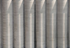 Cement silos. Detail of the cement silos Stock Photo