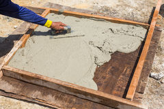 Cement slab cast Stock Photos