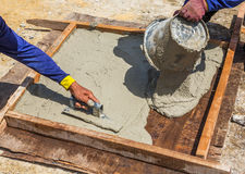 Cement slab cast Royalty Free Stock Image